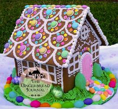"""The Great Gingerbread House Question - - """"That's beautiful! Can we eat it?"""" This question echos through every Christmas in my memory. Mom made so many gingerbread houses. After oooohing and aaahhhing, each family would ask the same quest…. Gingerbread House Designs, Gingerbread House Parties, Gingerbread Village, Gingerbread Decorations, Christmas Gingerbread House, Christmas Treats, Christmas Baking, Christmas Cookies, Christmas Decorations"""