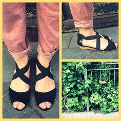 @ysasuparis #leathershoes #compensée #SS14 #Paris