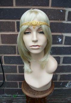 Cleopatra Head Chain/  Head Band Head Jewelry, Jewellery, Headdress, Headpiece, Cleopatra, Headgear, Halloween Costumes, Runway, Crown