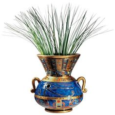 Design Toscano Eye of Horus Egyptian Vase  - Egyptian period they usually put flowers in vases