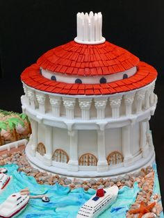 - This is the Catalina Island Casino, built in 1939 on Catalina Island, CA. I made this cake for a family who is celebrating their mother's 80th birthday. The celebration is on Catalina Island.  As always, everything is edible. The cake is quite large, and heavy!  Transportation on the Catalina Express (boat) was tricky but it made it!
