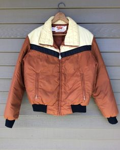 Vintage COMFY Goose Down Puffer Jacket Mens M 70s 80s MAde in USA goosedown coat #Comfy #BasicJacket #DownJacket #goosedown