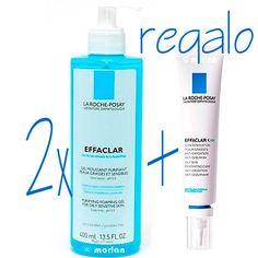 La Roche Posay DUPLO Effaclar Gel Purificante, 2x400ml+REGALO Effaclar K, 30ml #larocheposay #beauty #piel #skin #belleza #gel #facial #regalo