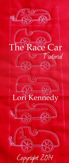 The Race Car-A Free Motion Quilt Tutorial Site has lots of tutorials! !!