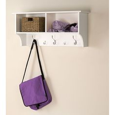 Winslow White 36 inch Wide Hanging Entryway Shelf - Overstock Shopping - Great Deals on Prepac Other Storage