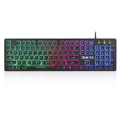 Amazon.com: XINMENG K11 Wired Gaming Keyboard Backlight Mute Ultra Thin USB Keyboards for Computer and Laptop Black: Computers & Accessories