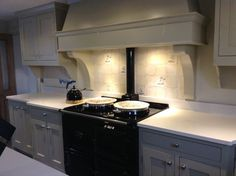 Our friend Aggie Aga, new kitchen painted farrow & ball Old White walls Clunch, Fired Earth tiles Kitchen Wall Tiles, Kitchen Paint, New Kitchen, Kitchen Decor, Kitchen Cabinets, Fired Earth, Shaker Kitchen, Color Palate, Farrow Ball