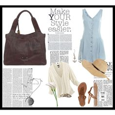 """""""Summer Picnic Outfit"""" created by #dsoe, #polyvore #fashion #style Miss Selfridge Tommy Hilfiger Wet Seal #Frye Waxing Poetic Melissa Odabash #Calla #Zimmermann"""