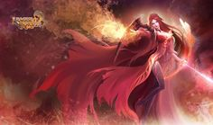 Fire Queen Hunter League Of Angels Angel Wallpaper Heroines