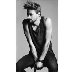 """Again, Julian  #squaready #monicaschettino #moda #fashion  #nero #black #bn #bw #handsome #blonde #model #modello #uomo #jeans #hair #white"""