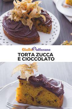 La torta zucca e cioccolato è un dolce perfetto per l'autunno. L'impasto, soffice e goloso , si prepara con la zucca frullata. Il tutto è ricoperto da una setosa ganache al cioccolato fondente.  #giallozafferano #torta #cake #pumpkin #zucca #cioccolato #chocolate #autunno #dolci  [Pumpkin and chocolate cake]
