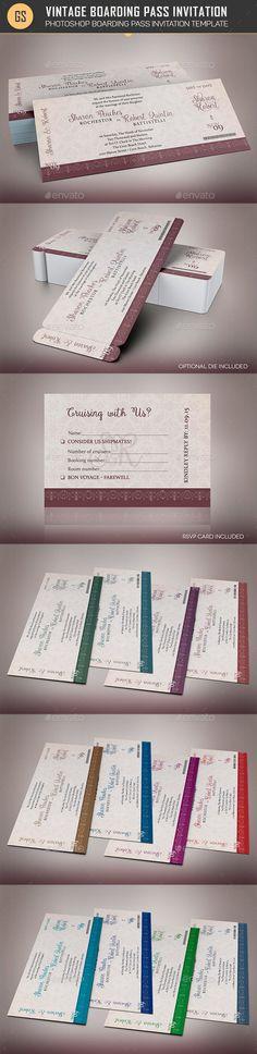 Wedding Cruise Boarding Pass Invitation Template Church Print - best of invitation template boarding pass
