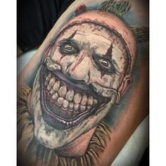 Twisty the clown from #americanhorrorstory I  tattooed today!