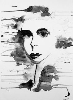 Print of Original Watercolor Black and White by ArtThouChubbly