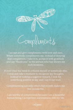Affirmation - Compliments by CarlyMarie