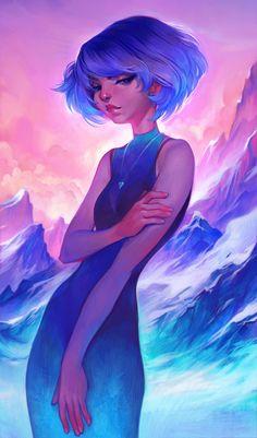 Frost Art Print by Loish, Digital Painting, Illustration, Sexy Portrait… Art And Illustration, Kunst Inspo, Art Inspo, Fantasy Kunst, Fantasy Art, Anime Kunst, Anime Art, Loish, Art Girl