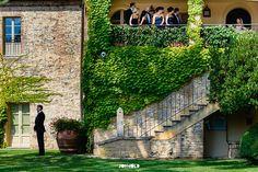Borgo San Felice, Italy Wedding Photographer - First look from Bridal Suite - #FirstLook #destinationWedding #TuscanyWedding #TuscanyWeddingPhotographer // www.jonmoldweddin...