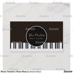 Music Teacher   Piano Keys Business Card