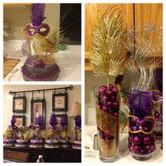 Center pieces & decorations for 15th bday