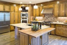 Kitchens With Double Ovens In A Corner Design Ideas, Pictures, Remodel, and Decor
