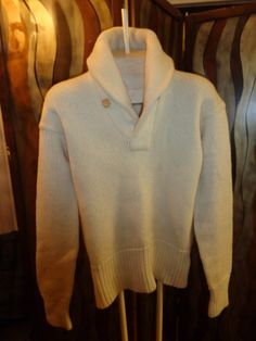 Vintage fairplay 1930s Shawl Collar Wool thick knit by Simplemiles, $139.95