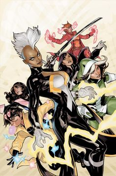 X-men relaunches in April with all-female team: Storm, Rogue, Kitty Pryde, Psylocke, Rachel Grey, and Jubilee.