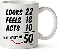 50th birthday mug funny gift road sign idea men women ladies dad mum happy 50