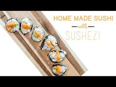 Karlie Colleen - How To Make Sushi, Homemade Sushi, Ethnic Recipes, Food, Meal, Essen, Hoods, Meals, Eten