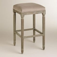 One of my favorite discoveries at WorldMarket.com: Cocoa Paige Backless Barstool