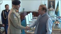 General Qamar Javed Bajwa, a strong prime minister Nawaz Sharif meeting exchanged views on the country's security situation, terrorism acts and operation was carefully prescribed conditions