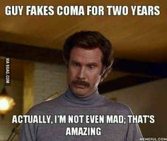 Guy fakes coma for two years...