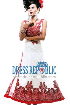 Off White Markham, Product code: DR3295, by www.dressrepublic.com - Keywords: Shalwar Kameez Mississauga, Ottawa, Toronto Pakistani Boutiques in Markham, Canada