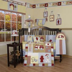 Geenny Boutique ~ Baby Boy Fire Truck Crib Bedding