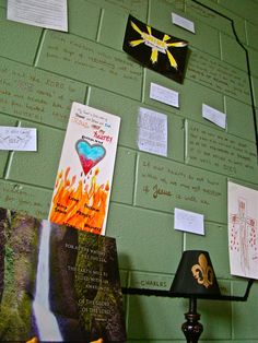 Church prayer station room, so many great things going on in here - love this so much.