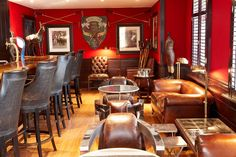#HOTELS #SWD #GREEN2STAY The Oyster Box The Chukka Bar is a firm favourite for cigar lovers... it's masculine leather interior just lends itself to leaning back with a swirl of cognac and appreciating the finer things in life!