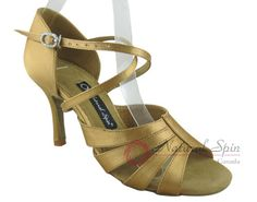 Natural Spin Signature Latin Shoes(Open Toe):  H1165-02_GoldES