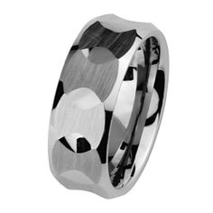 Valentines Day 8mm Faceted Cobalt Free Tungsten Carbide COMFORT-FIT Wedding Band Ring for Men and Women (Size 5 to 15) The World Jewelry Center. $18.00. scratch proof. Promptly Packaged with Free Gift Box and Gift Bag. Tungsten has a tendency to break when hit with a hard material
