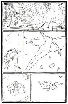Dave Taylor's contribution to Moebius' Arzach collection Moebius Comics, Moebius Art, Jean Giraud, Nogent Sur Marne, Jordi Bernet, Comic Book Collection, Bristol Board, Comic Panels, Sketch Inspiration