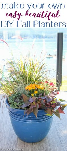 Easy Beautiful DIY Fall Planters - The Happy Housie