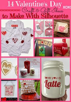 Silhouette School: 14 Valentine's Day Gifts and Crafts (Made with Silhouette)