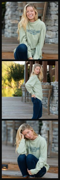 Meet your girl's new favorite layer: the Loop Knit Terry Pullover - Desert Sage!