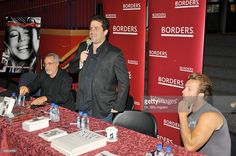 Author Lawrence Grobel (L), director Brett Ratner and actor Scott Caan attend Brett Ratner's Rat Press Book Signing at Borders on September 17, 2009 in Hollywood, California.