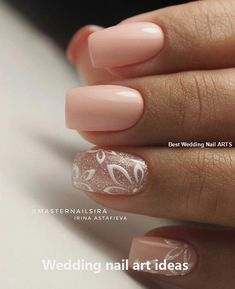 False nails have the advantage of offering a manicure worthy of the most advanced backstage and to hold longer than a simple nail polish. The problem is how to remove them without damaging your nails. Simple Wedding Nails, Wedding Nails Design, Trendy Wedding, Simple Elegant Nails, Pink Wedding Nails, Elegant Nail Art, Simple Nails, Wedding Shoes, Wedding Ideas