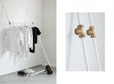 Love Aesthetics // Clothing Rack // supersimple lean back rack made from plumbing