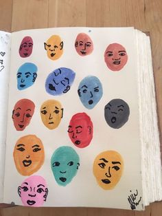 Ways to fill a sketchbook. I painted the heads with watercolor and used a sharpie to draw the faces. Ways to fill a sketchbook. I painted the heads with watercolor and used a sharpie to draw the faces. Art Journal Inspiration, Art Inspo, Arte Sketchbook, Sketchbook Ideas, Sketchbook Project, Aesthetic Art, Aesthetic Drawing, Watercolor Art, Simple Watercolor