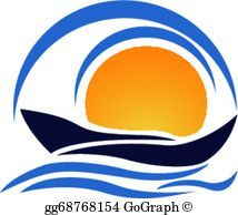 Boat waves and sun logo | wave outrigger designs | Pinterest ...