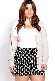 Geo Girl Woven Shorts | FOREVER21 PLUS Go geo! #Plus #GeoPrint #MustHave