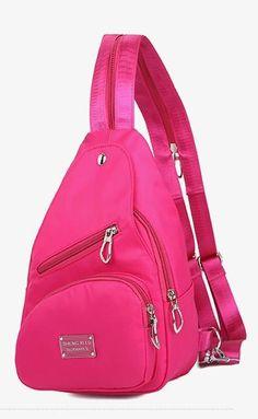 Women's Pink Canvas Fashion Backpack #pink #backpack #fashionbackpack #handbags
