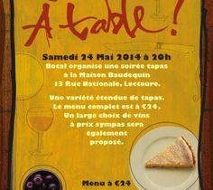 Brand illustration and poster art for Bocal restaurant