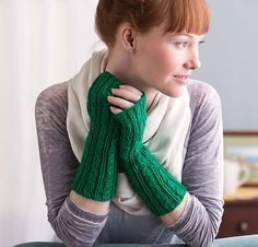 Ravelry: Green Gables Cabled Gauntlets pattern by Lynn M. Wilson